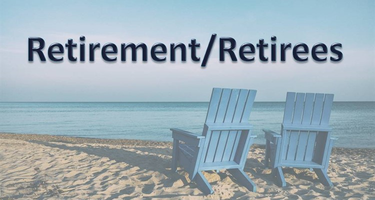 Retirement/Retirees Caption with ocean background