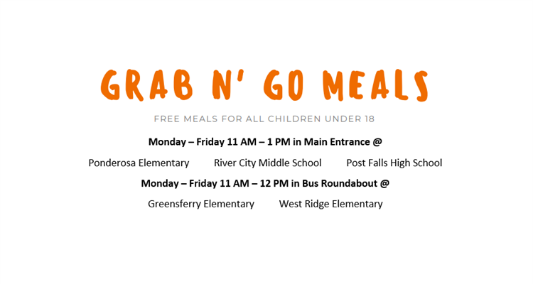 Grab N' Go Meals during school closure