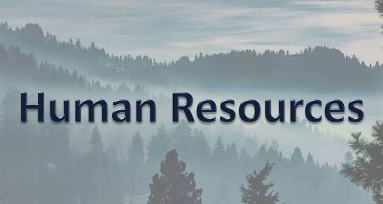 Human Resources caption with mountains in background