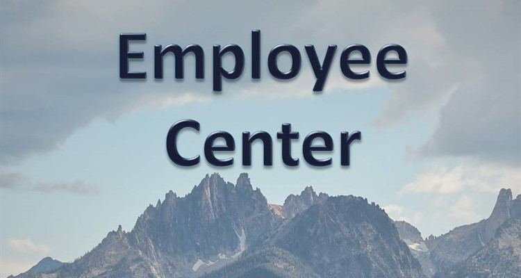 Employee Center caption with mountain background